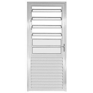 Porta Cozinha Alumínio 210x80 com Basculante (direita ou esquerda)