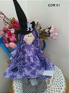 Boneca de pano bruxa pequena