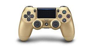 Controle Playstation 4 Dourado