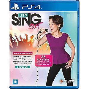 Lets Sing 2016 Semi Novo - Ps4
