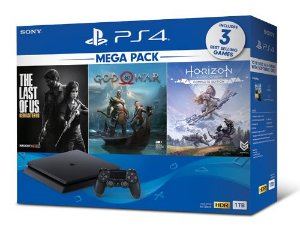 Playstation 4 Slim - 1Tb + Kit 3 Jogos