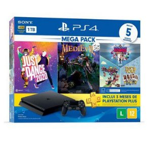 Playstation 4 Slim - 1Tb + Kit 5 Jogos C/ 3 Meses De Psn