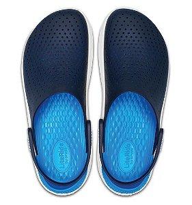Crocs LiteRide Clog - Azul e Branco/204592- 462