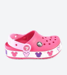 Crocs Croclights Minnie Mouse Infantil - Rosa  204994-6X0