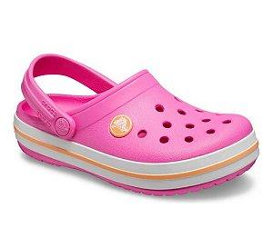 Crocs Crocband Clog infantil Rosa/Branco - 204537-6QZ