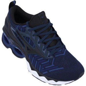 Tênis Mizuno Wave Creation Waveknit 2- Marinho Preto