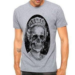 Camiseta Manga Curta Rainha Caveira