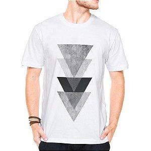 Camiseta Manga Curta Triangulos