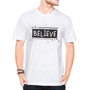 Camiseta Manga Curta Believe
