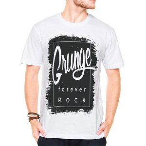 Camiseta Manga Curta Grunge Rock