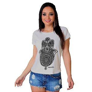 Camiseta T-shirt  Manga Curta Mão de Fatima