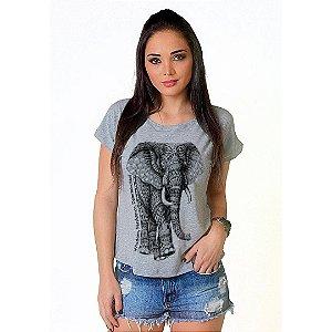 Camiseta T-shirt  Manga Curta Elefante Tattoo