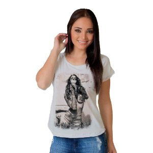 Camiseta T-shirt  Manga Curta Sexy Girls