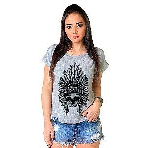 Camiseta T-shirt  Manga Curta Apache Skull