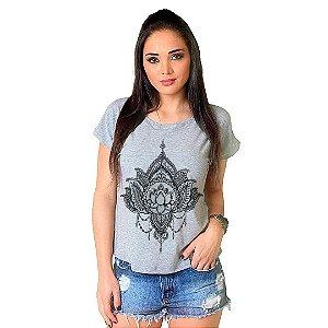 Camiseta T-shirt  Manga Curta Flor de Lotus