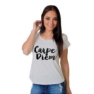 Camiseta T-shirt  Manga Curta Carpe Diem