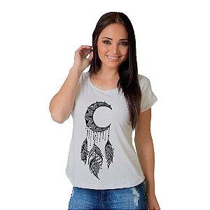 Camiseta T-shirt  Manga Curta Lua Abstrata