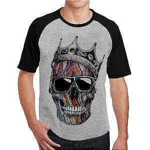 Camiseta Raglan Caveira Coroa