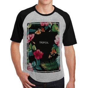 Camiseta Raglan Tropical