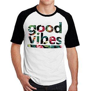 Camiseta Raglan Good Vibes