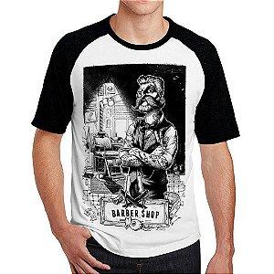 Camiseta Raglan Barbar Shop