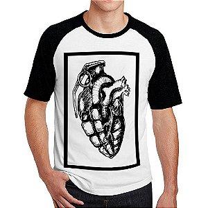 Camiseta Raglan Granada Coração