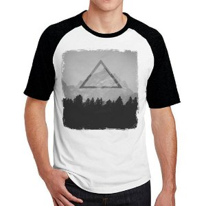 Camiseta Raglan Triangulos Base