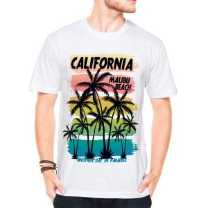 Camiseta Manga Curta malibu beach one