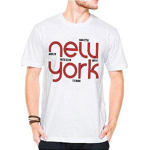Camiseta Manga CurtaSstates Ny