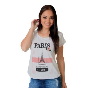 Camiseta T-shirt  Manga Curta Paris