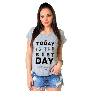 Camiseta T-shirt  Manga Curta Today is Day