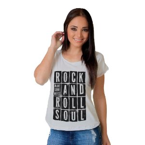 Camiseta T-shirt  Manga Curta Rock and Roll
