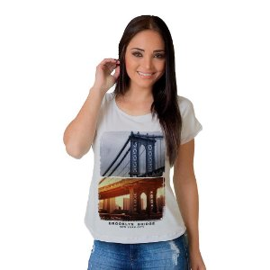 Camiseta T-shirt  Manga Brooklyn Bridge