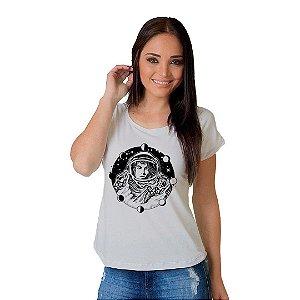 Camiseta T-shirt  Manga Curta Girl Astronauta