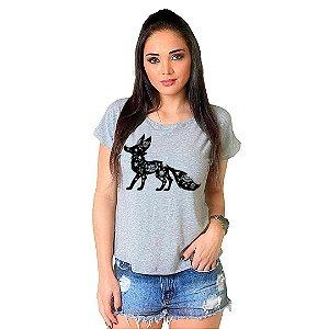 Camiseta T-shirt  Manga Curta Galaxy Fox