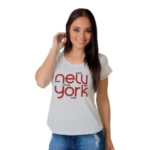 Camiseta T-shirt  Manga Curta New York