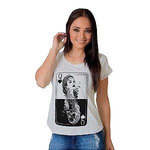 Camiseta T-shirt  Manga Curta Damas Skull