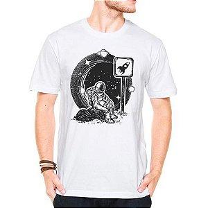 Camiseta Manga Curta Parada de Astronauta
