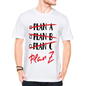 Camiseta Manga Curta Plan Z