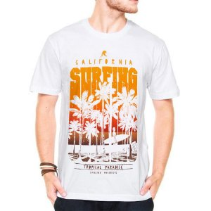 Camiseta Manga Curta Tropical Paradise