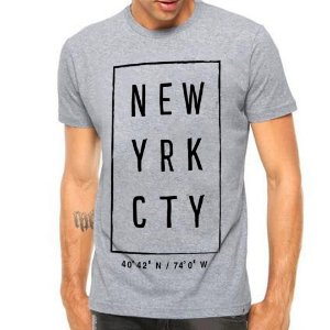 Camiseta Manga Curta New Yrk Cty