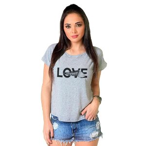 Camiseta T-shirt  Manga Curta Love