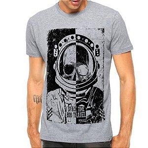 Camiseta Manga Astronauta Skull