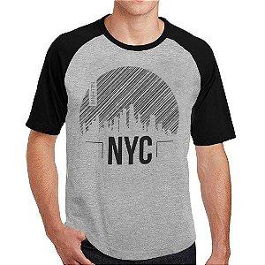 Camiseta Raglan manhattan NY