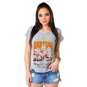 Camiseta T-shirt  Manga Curta Tropical Paradise