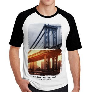 Camiseta Raglan brooklyn bridge