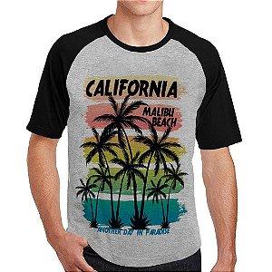 Camiseta Raglan malibu beach