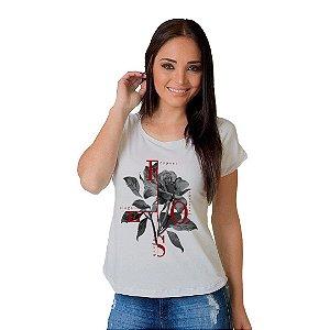 Camiseta T-shirt  Manga Curta Rose