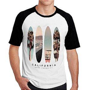 Camiseta Raglan surf paradise california