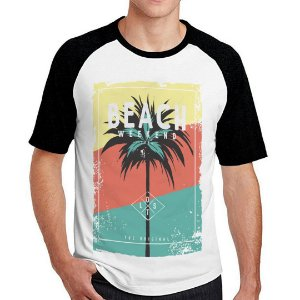 Camiseta Raglan Beach